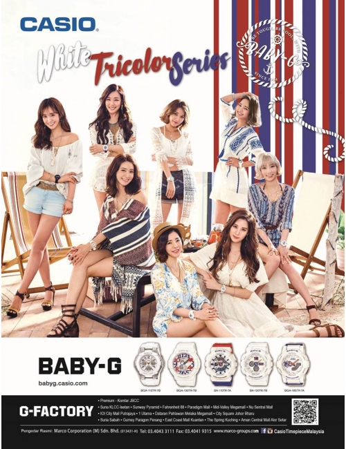 Baby-G White Tricolor Series-Check out the Baby-G White Tricolor series!