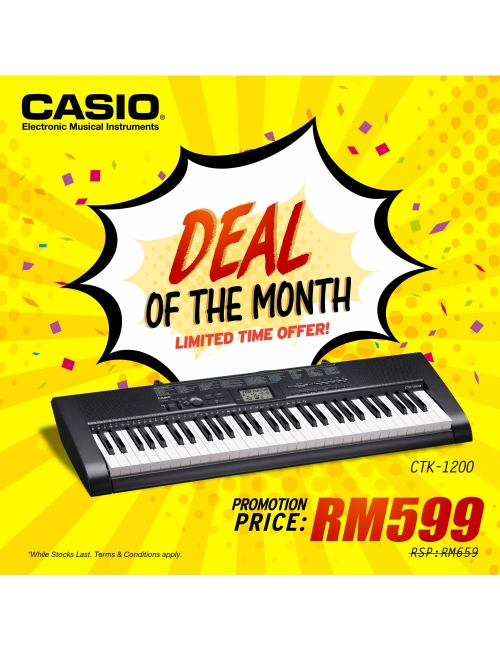 Casio Musical Instrumemts-Best Deal of the month! Casio Digital Keyboard lowest price start from RM599! *While stocks last.